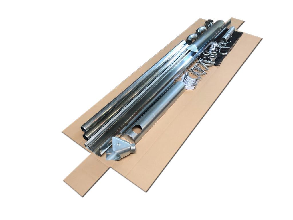 Titanzink Rinnenstutzen mit Klemmfeder und Einh/änge/öse f/ür einfache und schnelle Montage Zink Einhangstutzen oval 20//60 f/ür halbrunde Dachrinnen